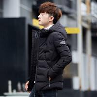 男士冬季外套2018新款韩版潮流帅气短款男冬装羽绒棉袄棉衣男