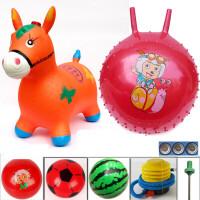 音乐马骑马充气马木马儿童跳跳马加大加厚跳跳鹿橡皮户外玩具