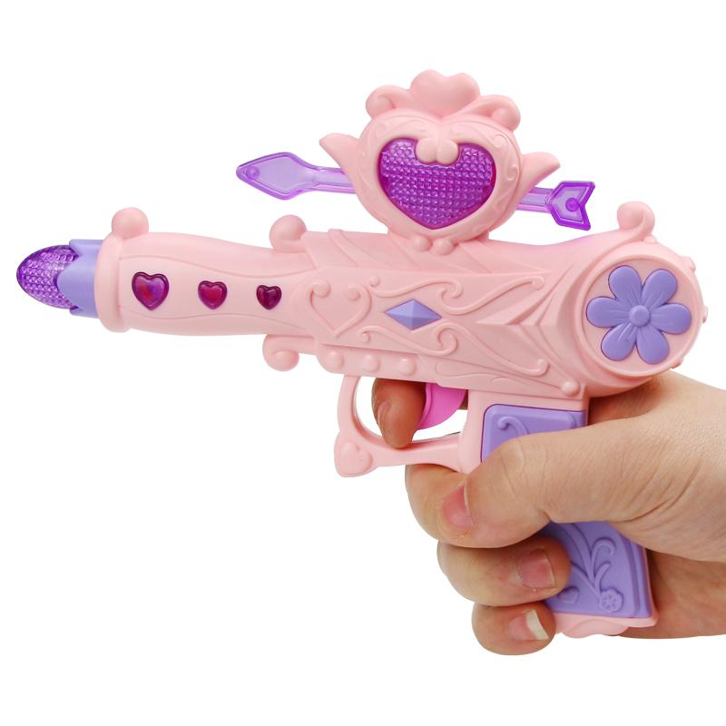 宝宝声光玩具枪男孩女孩音乐枪1-2-3-4岁小孩小儿童玩具  送2节7号电池