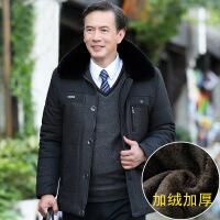 中老年人冬装外套冬季40岁男装爸爸50加绒加厚款棉袄中年棉衣