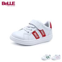 百丽Belle童鞋男女童小白鞋儿童运动鞋撞色时尚学生鞋休闲鞋(5-15岁可选)DE0888