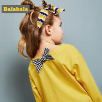 巴拉巴拉童装女童长袖T恤春秋2018新款打底衫小童宝宝儿童体恤潮
