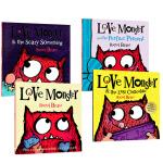 英文原版绘本 Love Monster 小怪兽阿蒙 4册套装 儿童情绪情感教育故事书