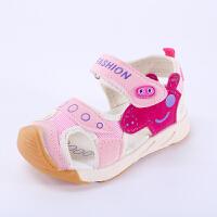 夏新款宝宝机能凉鞋包头男童凉鞋儿童女童凉鞋