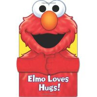 Elmo Loves Hugs! 英文原版 芝麻街:阿莫爱拥抱 纸板玩偶书 Sesame Street