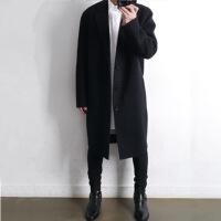 羊毛呢大衣男中长款韩版英伦风双面羊绒大衣男呢子外套落肩风衣冬