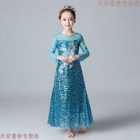 艾莎公主裙冰雪奇缘爱莎裙子女童爱沙连衣裙儿童圣诞节服装