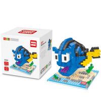 小颗粒钻石微型积木愤怒的小鸟 海底总动员益智拼插玩具礼物