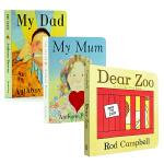 【中商原版】Dear Zoo 亲爱的动物园 My Mum My Dad我爸爸我妈妈 英文原版绘本 纸板书3册 立体机关