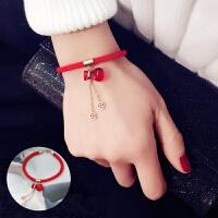 红绳手链本命年葫芦钱币小狗年新年饰品红色简约百搭男女情侣手链