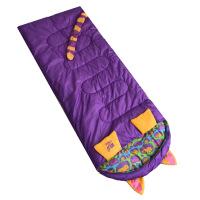 羽绒睡袋儿童儿童卡通老虎绒布睡袋青少年户外运动春秋冬家用野营加厚 图片色