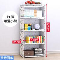 储物架整理架子宿舍寝室收纳神器简易书架落地厨房置物架卧室客厅
