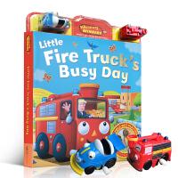 【全店300减100】英文原版书绘本Wind-Up Little Fire Truck engine (Whizzy W