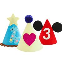 宝宝周岁数字生日帽儿童皇冠帽儿童派对生日帽装饰布置用品
