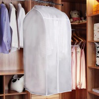 [当当自营]心情生活 2个装衣物防尘罩大衣西服罩挂衣袋西装防尘袋悬挂式透明衣服挂袋 白色 2个装
