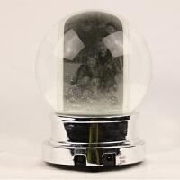 圣诞水晶球照片定制 摆件雪花飘雪旋转音乐盒 厂家出口405 14.8*14.8*20