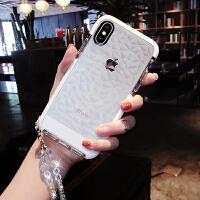防摔iphoneX苹果7plus手机壳透明10硅胶全包边软壳6s挂绳8P女款