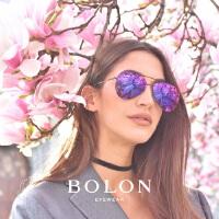 BOLON暴龙太阳镜男女复古蛤蟆镜时尚金属框墨镜开车眼镜BL8010