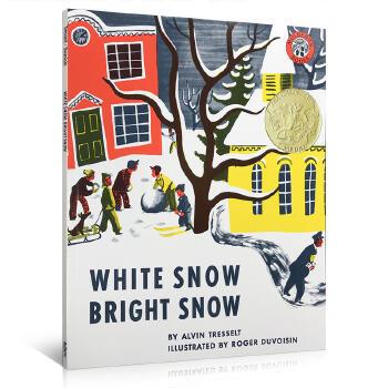 《英文原版 White Snow Bright Snow 洁白的雪