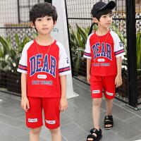男童夏装新款套装夏季童装中大童儿童运动短袖T恤孩两件套潮