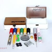复古实木质针线盒套装家用缝纫线包韩式十字绣工具