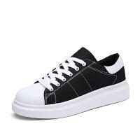 夏季男孩大童帆布板鞋小学生运动休闲韩版增高男鞋子