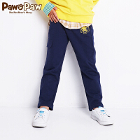 【3件4折 到手价:159】Pawinpaw卡通小熊童装秋男童休闲裤长裤中小童卡通长裤
