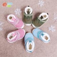 贝贝怡男女童加绒保暖学步鞋秋冬新款宝宝防滑软底宝宝机能鞋194X222