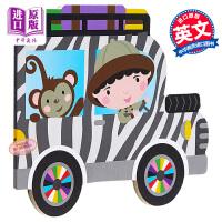 【中商原版】异形书:吉普车 On Wheels : Jeep 异形书 纸板书 哄睡读物 0~3岁 英文原版