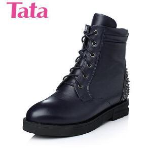 Tata/他她 年时尚休闲牛皮革女靴58127DD5