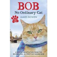 【现货】英文原版Bob: No Ordinary Cat 鲍勃:不平凡的猫 插图平装版 小天使bob街猫成长记 青少版