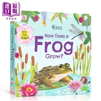 【中商原版】DK How Does A Frog Grow 蝌蚪怎样变青蛙 儿童科普绘本 亲子阅读 纸板书 英文原版 3