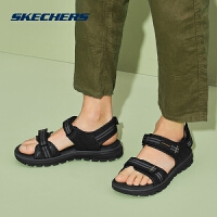 Skechers斯凯奇男鞋新款凉鞋 露趾平底凉拖时尚沙滩鞋 65468
