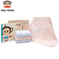 PBW1773020大嘴猴(Paul Frank) 婴童条纹绵竹纱布宝宝空调被 120x120cm