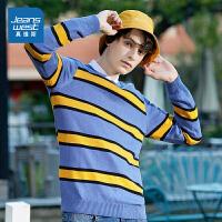 [秒杀价:89元,初春特惠,仅限2月16-17日]真维斯男装 秋装 时尚修身9针长袖毛衣