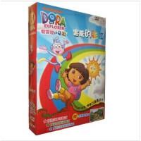 正版 儿童卡通片 爱探险的朵拉10 害羞的彩虹4DVD 动画片 中英双语 视频 光盘
