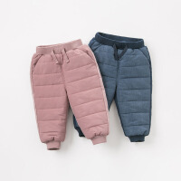 夹棉加厚戴维贝拉秋冬新款儿童棉裤宝宝长裤DB9629
