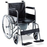 佛山东方轮椅车可折叠便携式坐便椅FS609U(内带塑料座便桶) 更多优惠搜索【好药师轮椅】