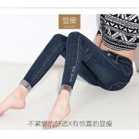 新款春秋高腰牛仔裤女九分裤韩版新款弹力显瘦修身小脚铅笔裤