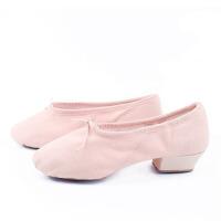 教师舞蹈鞋女带跟软底帆布舞鞋民族舞肚皮舞女式芭蕾舞练功鞋