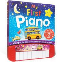 英文原版绘本 My First Piano 我的一本钢琴书 发声书 The Wheels on the Bus儿童歌谣