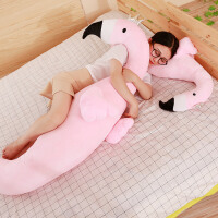 火烈鸟玩偶长条抱枕公仔娃娃少女生睡觉抱大毛绒玩具可爱懒人床上