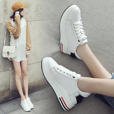 ZHR2018春季新款韩版小白鞋平底休闲鞋内增高单鞋运动鞋高跟女鞋AH28