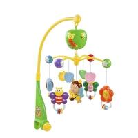 音乐旋转摇铃床挂床头铃 床铃0-1岁婴儿玩具 3-6-12个月宝宝