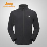 【特惠价】Jeep/吉普 新品男士户外运动登山服软夹克冲锋衣J812096103