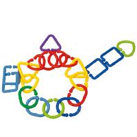几何扣环 儿童塑料拼插拼装桌面积木玩具3岁以上
