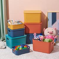 加厚桌面收纳盒杂物日式塑料整理盒零食宿舍化妆品储物浴室置物篮