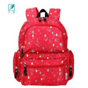 [3件3折 3折价:86.7]芙蕾大号妈咪包大容量多口袋防水母婴包双肩妈妈外出背包F5012