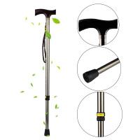 Yuyue/鱼跃 手杖拐杖 助行器 高强度铝合金 高度9档可调节 木制手柄 YU821铝合金材质用起来更轻便 时尚的助