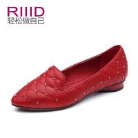 RIIID女鞋 尖头潮流单鞋平底鞋